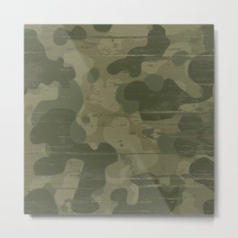 Camouflage military background Metal Print