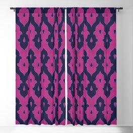 Mauresque Counterchange (Hot Pink - Navy) Blackout Curtain