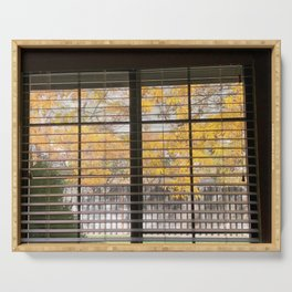 fall window Serving Tray