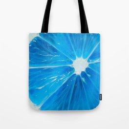 blue bright citrus Tote Bag