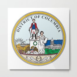 Washington DC Seal Metal Print