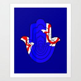 Pop Art Hamsa Hand Art Print