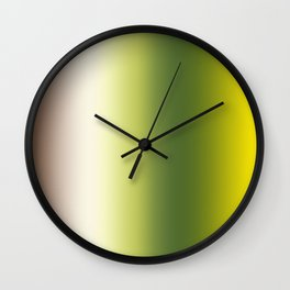 Ombre Shades of Green 1 Reversed Wall Clock