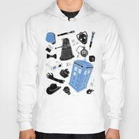 doctor Hoodies featuring Artifacts: Doctor Who by Josh Ln