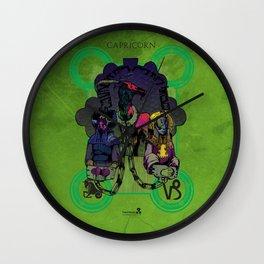 """Ars Tarot of the 12 Zodiac: """"Capricorn - Devil"""" Wall Clock"""