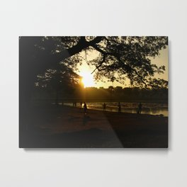 Play time at Dusk In Cambodia Metal Print