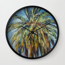 Canary Island Date Palm Wall Clock