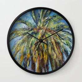 Canary Island Date Palm Wall Clock