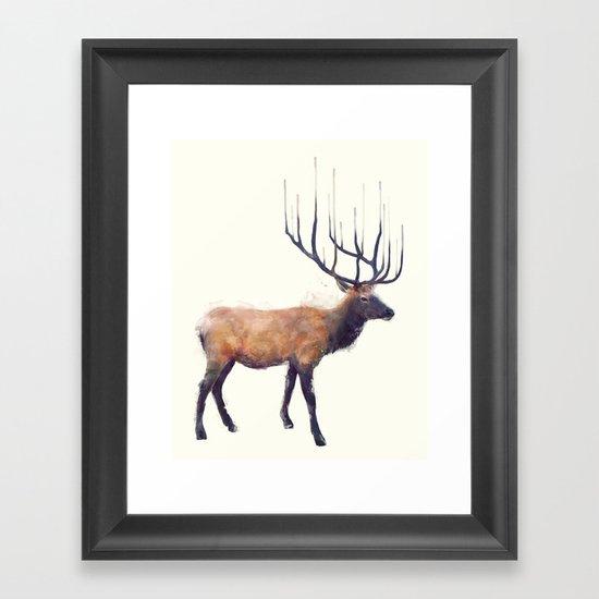 Elk // Reflect (Right) Framed Art Print