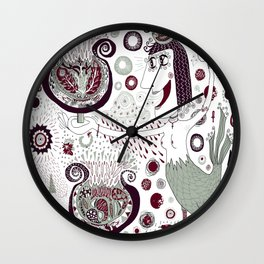 The Bird Lady Cometh Wall Clock