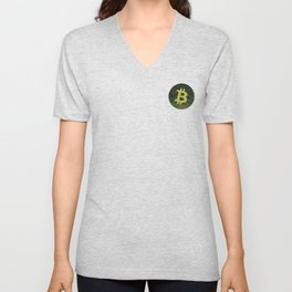 Bitcoin Fragmented Reality Unisex V-Neck
