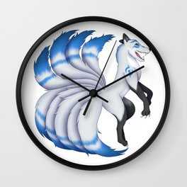Edan the Kitsune Wall Clock