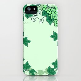 Abstract grapevine with frame from leaves iPhone Case