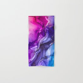 Abstract Vibrant Rainbow Ombre Hand & Bath Towel