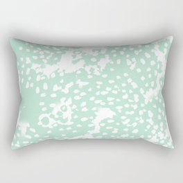 Dot pattern mint abstract minimal painting dorm college office gifts decor Rectangular Pillow