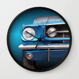 US American classic car mustang 1965 convertible Wall Clock