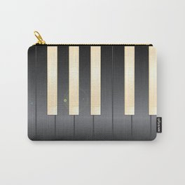 White And Black Piano Keys Carry-All Pouch