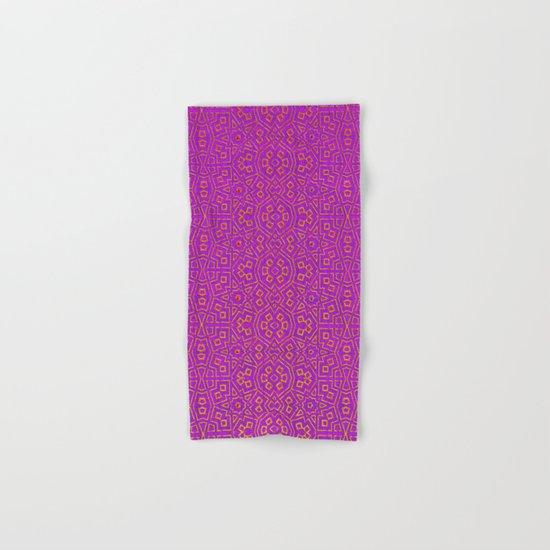 Purple Tribal Pattern Hand & Bath Towel