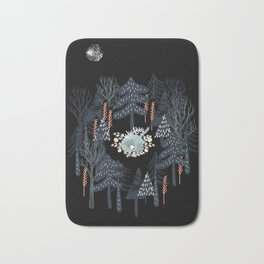 fairytale night forest Bath Mat