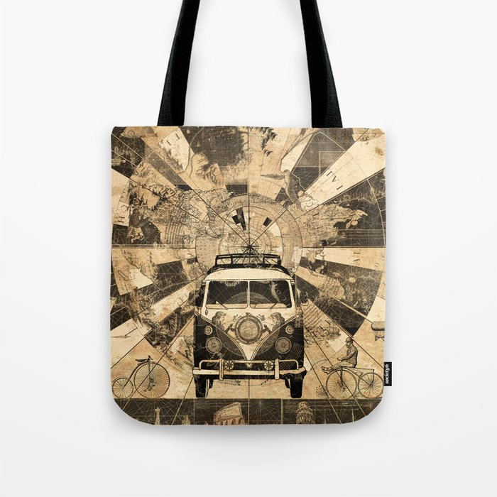 Vintage voyager world map design 7 tote bag by bekimart society6 vintage voyager world map design 7 tote bag gumiabroncs Choice Image