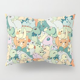 Cute Dino Pattern Pillow Sham