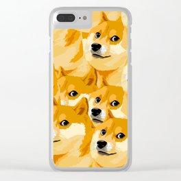 DogeDogeDogeDoge Clear iPhone Case