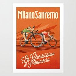 Milan San Remo cycling classic Art Print