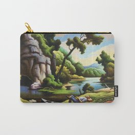 Classical Masterpiece 'Cave Spring' by Thomas Hart Benton Carry-All Pouch