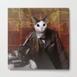 Science Cat Metal Print