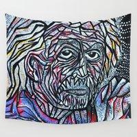 einstein Wall Tapestries featuring EINSTEIN by Art Book Of  Amanda