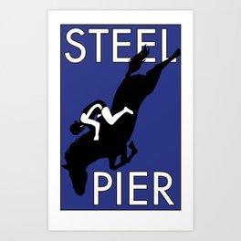Atlantic City, NJ  Steel Pier Diving Horse Art Print