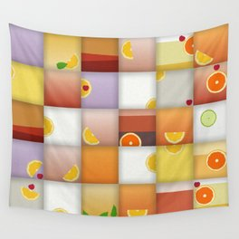 cocktail squares Wall Tapestry