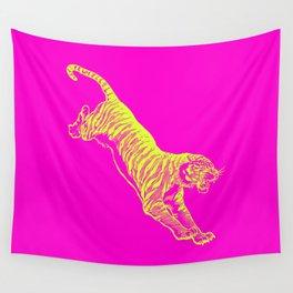 Tiger Running Wall Tapestry