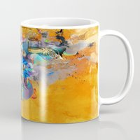 archan nair Mugs featuring Floating Mind by Archan Nair
