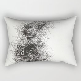 King LeBron in Flight! Rectangular Pillow