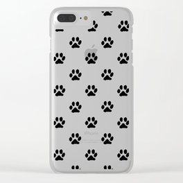 Footprints of My Pet Clear iPhone Case