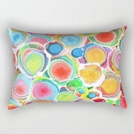 Sunshine on Your Spotty Mind (Alcohol Inks Series 07) Rectangular Pillow