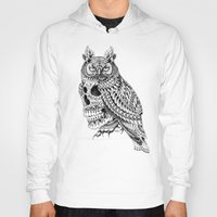 bioworkz Hoodies featuring Great Horned Skull by BIOWORKZ