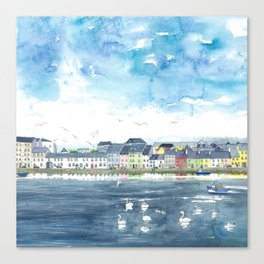 Long Walk, Galway Canvas Print