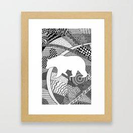 Kermode Bear Framed Art Print