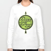 hare Long Sleeve T-shirts featuring hare krishna hare rama by Kapil Bhagat