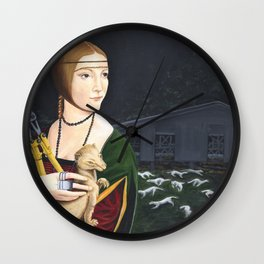 Lady with Liberated Ermine Wall Clock