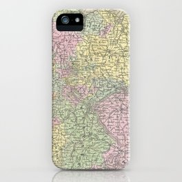 Vintage Map of Germany (1853)  iPhone Case