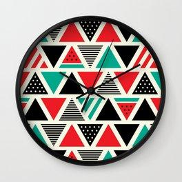 Watemelon Geometric Triangles Pattern Wall Clock