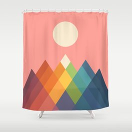 Rainbow Peak Shower Curtain