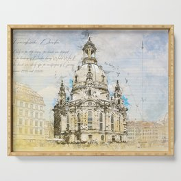 Frauenkirche, Dresden Germany Serving Tray