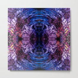 Stained Glass (Blue & Purple) Metal Print