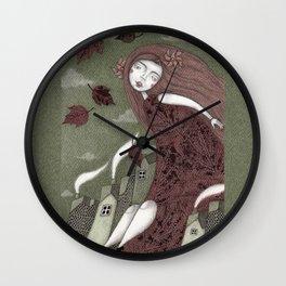 Autumn Wind Wall Clock