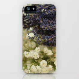 Lavender on gypsophila iPhone Case
