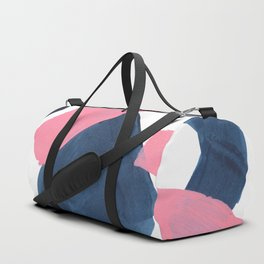 Colorful Minimalist Mid Century Modern Shapes Pink Navy Blue Abstract Shards Duffle Bag